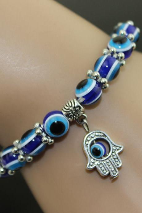 Retro Hand Eyes Beads Lucky Bracelets