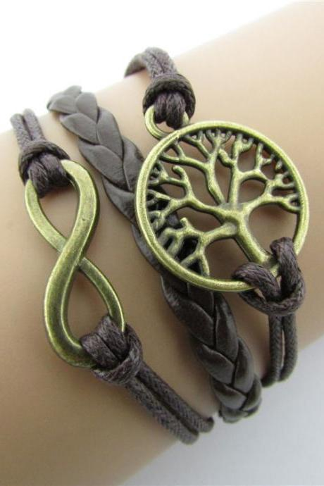Retro Style Tree Hand-made Cord Bracelet