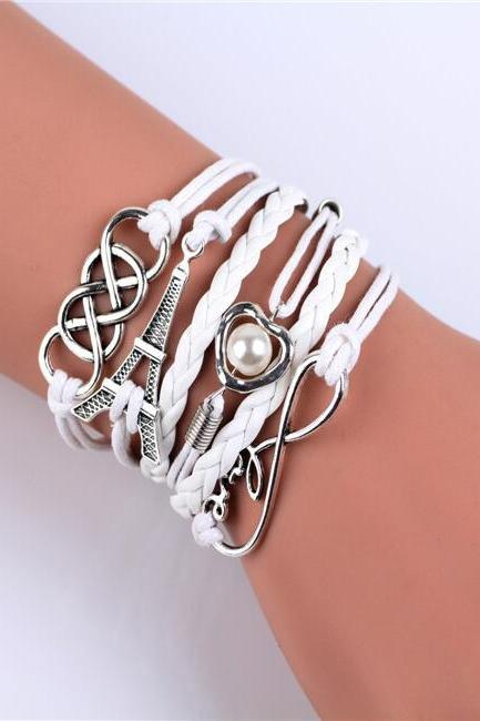 Eiffel Tower 8 Love Friendship Bracelets