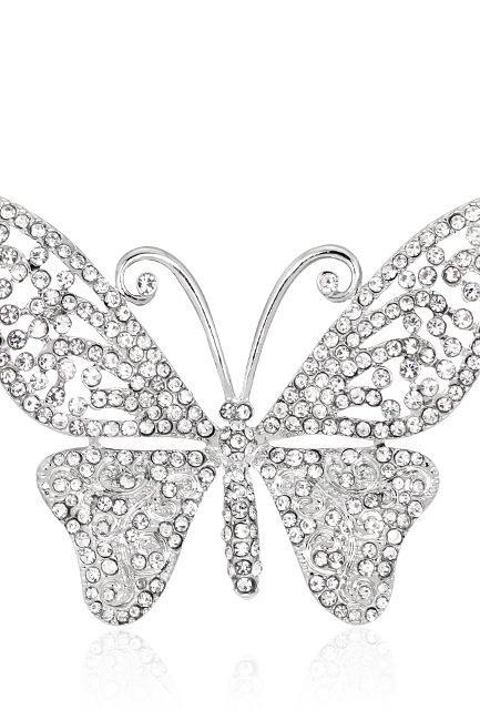 Hot butterfly boutique with Rhinestone Brooch