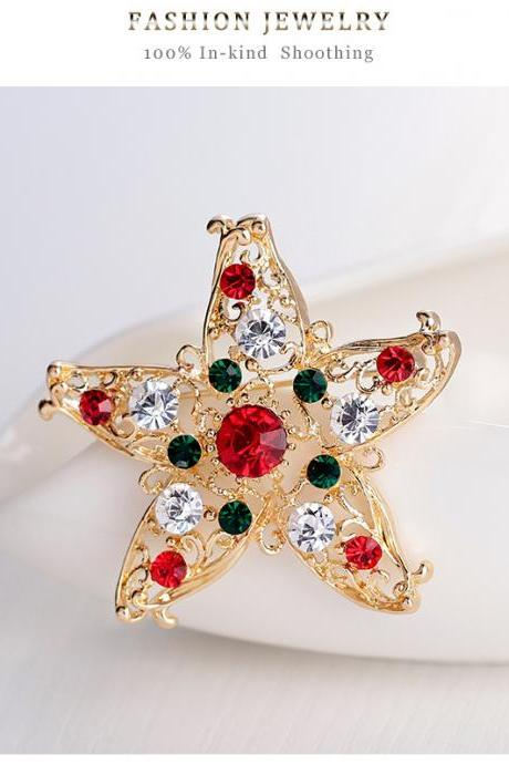 Sales of high-grade Christmas star Brooch