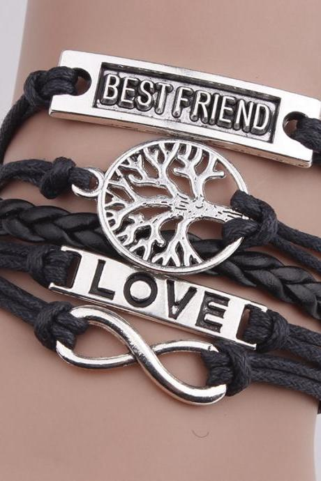 Heart Love DIY Tree Of Life Woven Bracelet
