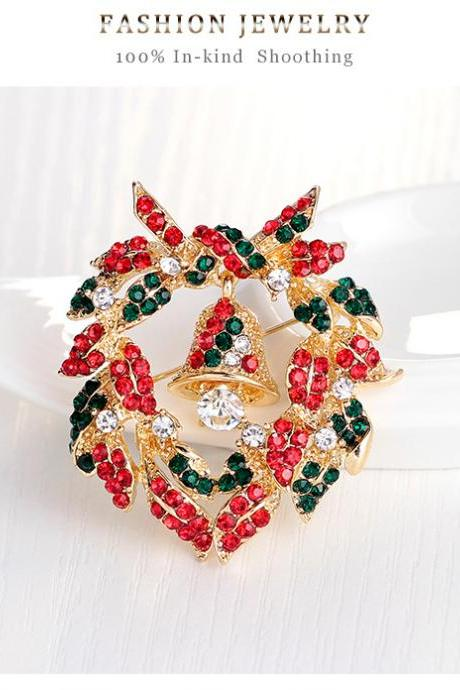 High-grade bell garland Brooch