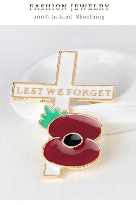 Cross selling Poppy Flower Brooch