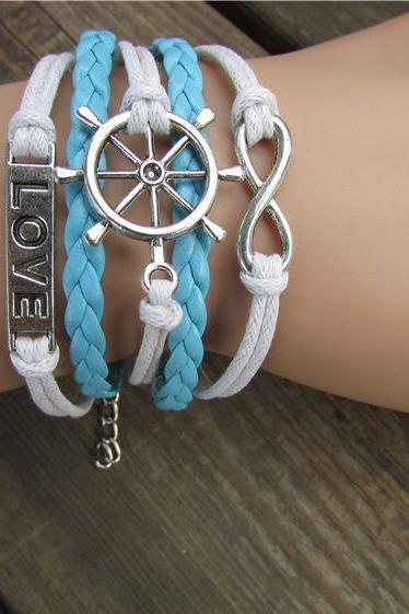 Romantic Rudder Love Multielement Woven Bracelet