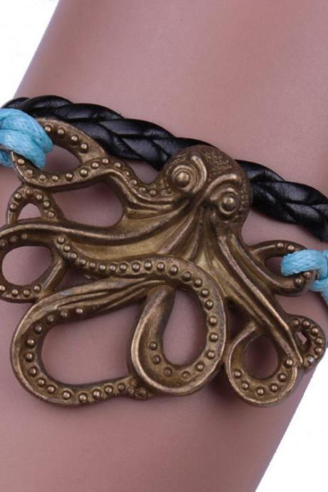 Personality Octopus Multilayer Woven Bracelet