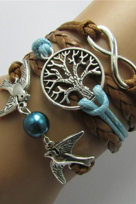 Dove Tree Of Life Woven Bracelet