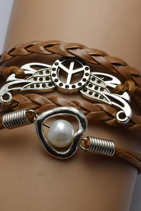 Peace Wing Multilayer Bracelet