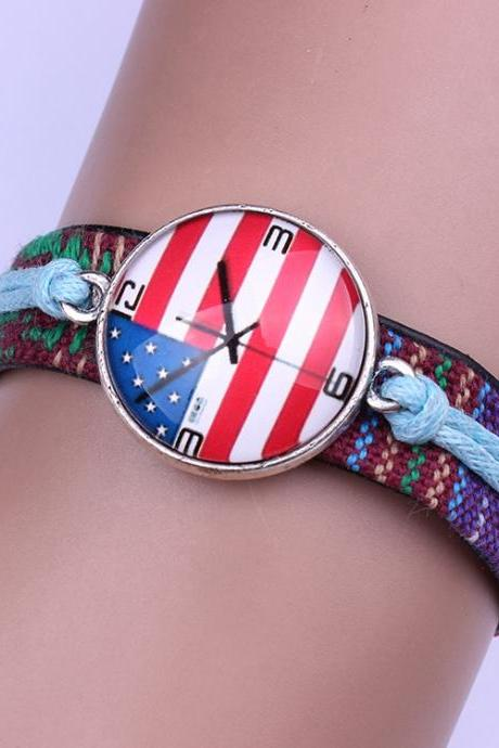 America National Flag Wrist Watches