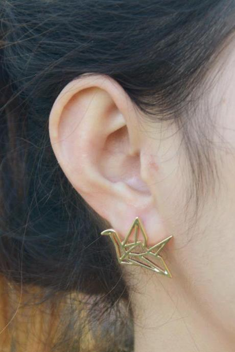 Hollow Out Papercranes Sweet Earrings