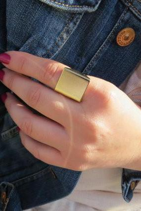 Punk Style Square Street Snap Ring