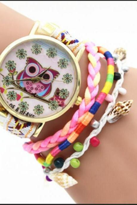 Owl Multilayer Bracelet Watch