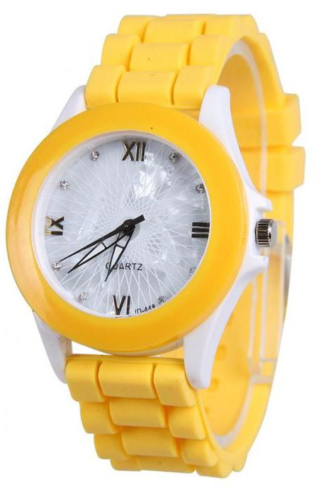 Butterfly Silica Gel Candy Color Watch