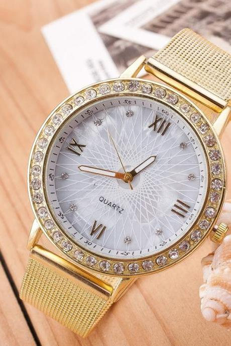 Fashion Sun Line Mirror Watch