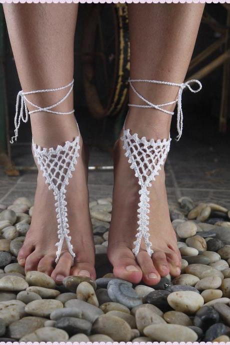 Hot hand crocheted Anklet