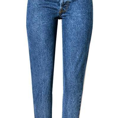 Cut Out Hip Holes Sexy Loose Pencil Long Jeans