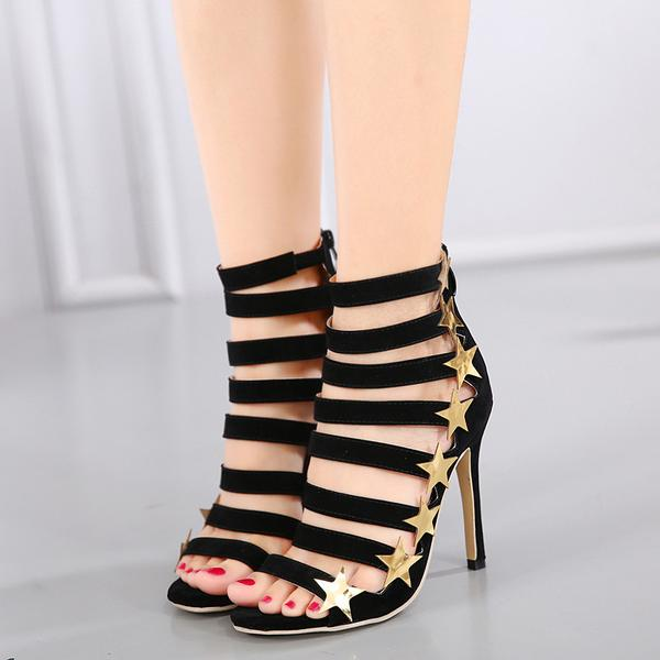 Stars Straps Ankle Wraps Open Toe Stiletto High Heels Sandals