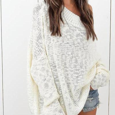 One Shoulder Sweaters