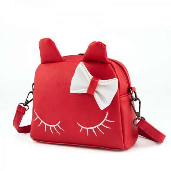 PU Cat Shaped Zippered Girl's Shoulder Bag
