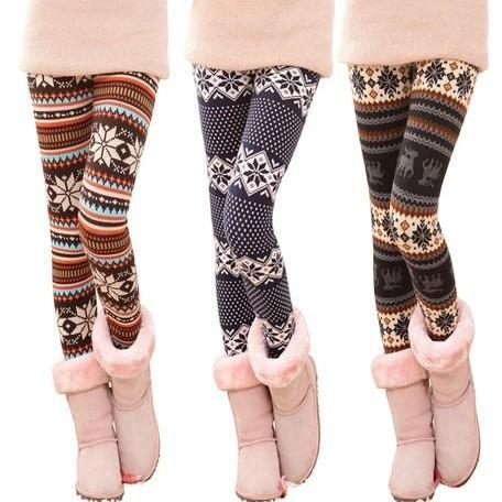 Snowflake Winter Warm Leggings