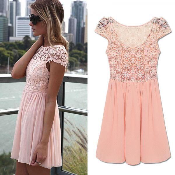 Women Summer Bandage BodyCon Lace Evening Sexy Party Cocktail MINI Dress