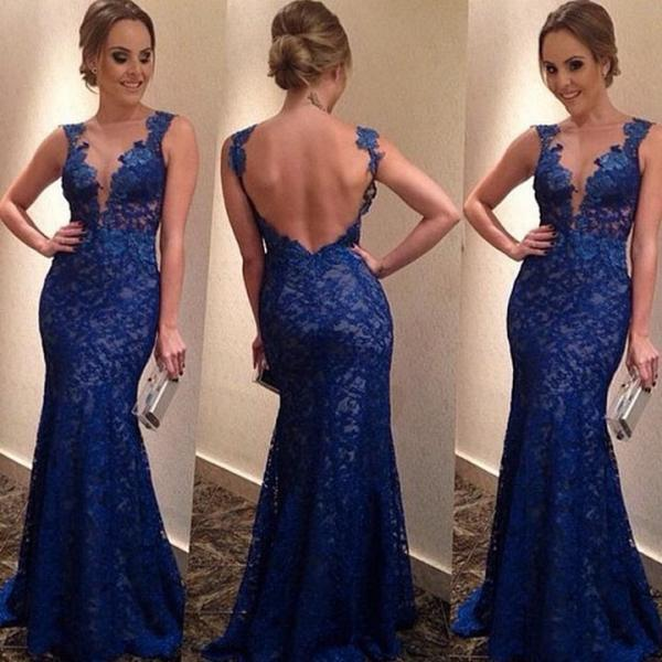 European Style New Fashion Lady Women's V-neck Formal Ball Gown Party Prom Cocktail Backless Long Dress