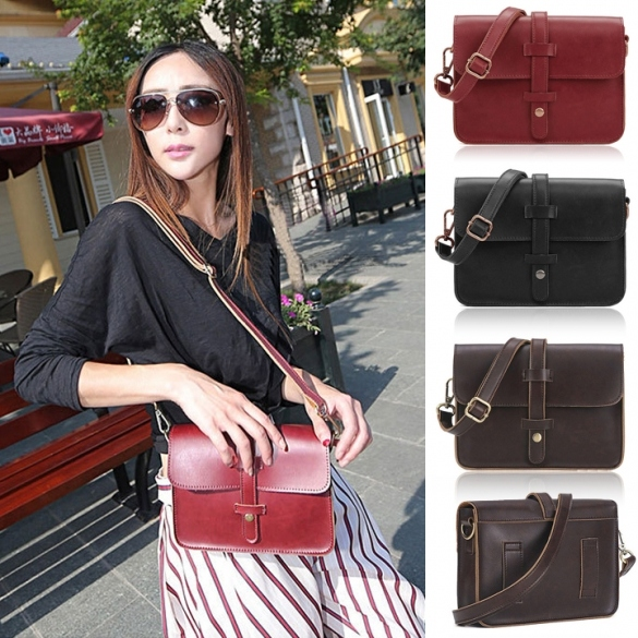 Vintage Women Designer Cross Satchel Messenger Shoulder School Handbag Bag