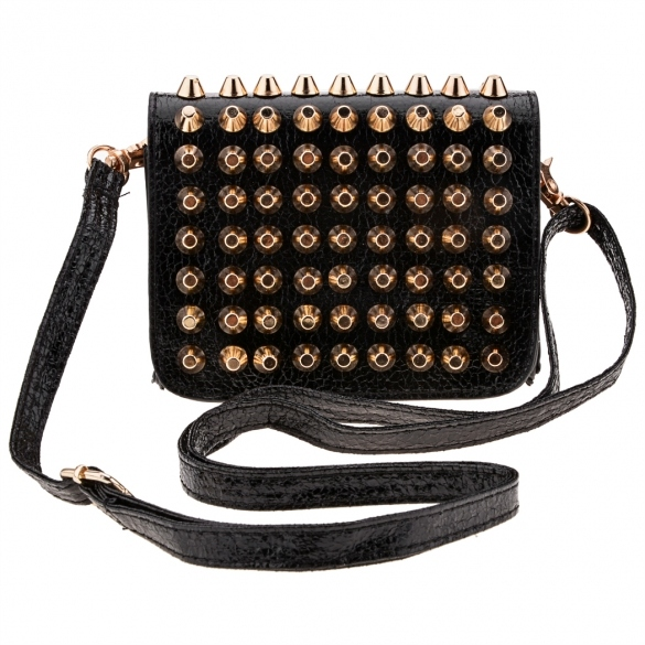 New Fashion Women Lady Girl Simple Rivet Retro Shoulder Bag Handbag Packets Bag