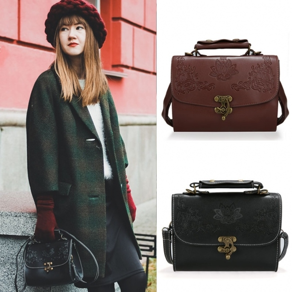 New Women Synthetic Leather Retro Style Shoulder Bag Casual Handbag