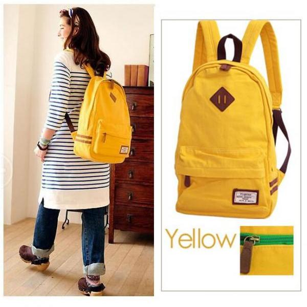 Contrast Color Japanese Style Hot Sale Casual Backpack Bag