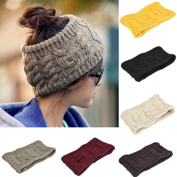 Solid Color Women's Winter Knitting Cap Fashion Empty Hat Winter 6 Colors