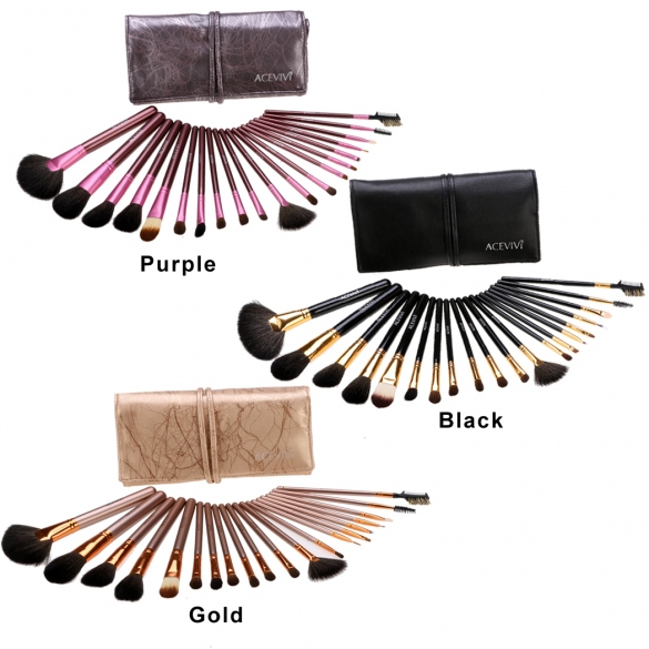 New Fashion 20-Piece Professional Makeup Brush Set Light Pouch Brushes Makeup Tool Set