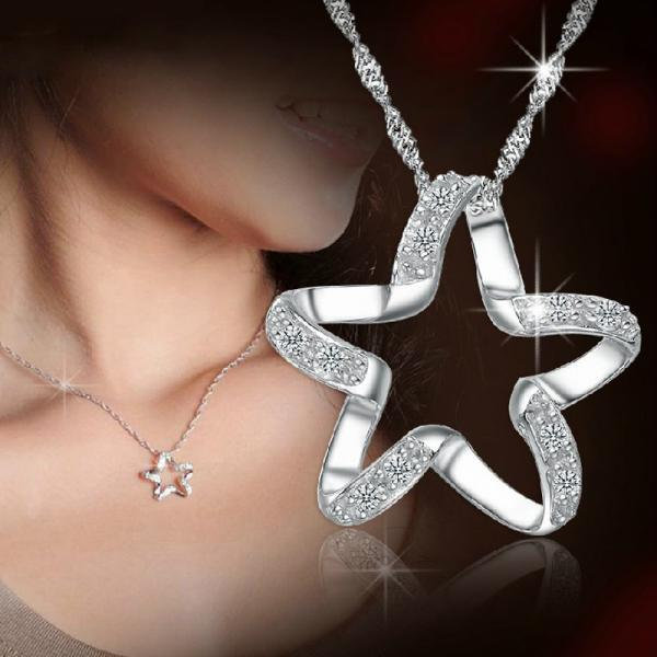 Fashion Personality Silver Pentacle Star Pendant