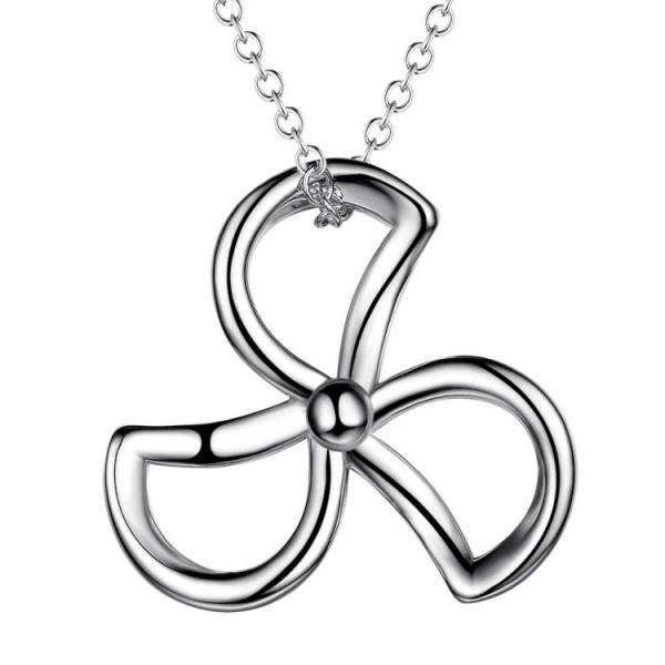 European Fashion Clover Pendants Tricyclic Necklace