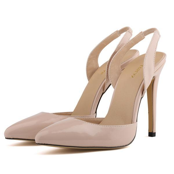 Pointed Toe High Heel Slingback Pumps