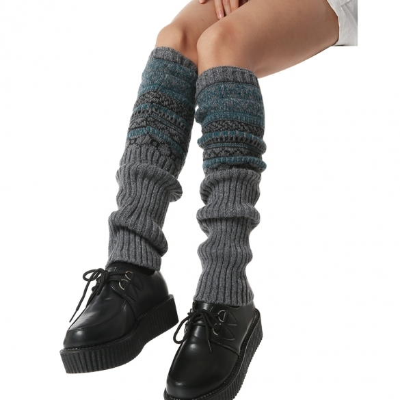 Hot Fashion Zeagoo Winter Autumn Women Lady Knee High Legwarmer Knit Crochet Leg Warmer