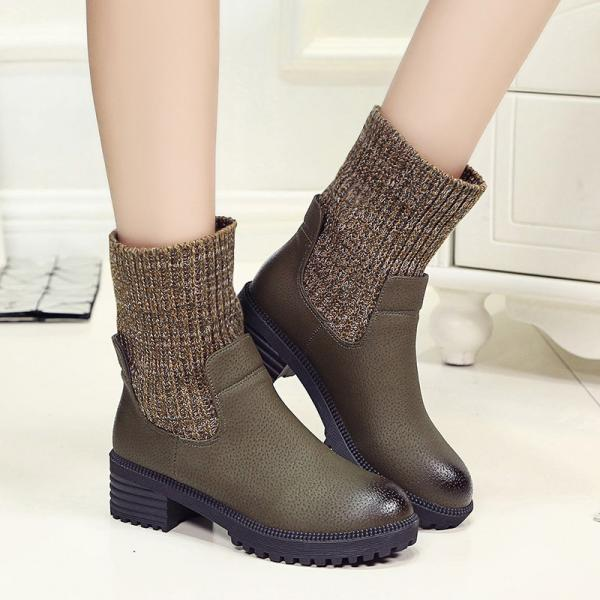 Sock- Inspired PU Leather Boots