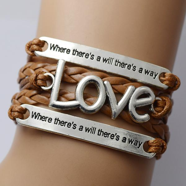 Love Woven Multilayer Couple Bracelet